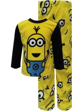 Despicable Me Boys' Despicable Me 2 Minion Warm And Cozy Fleece Pajamas