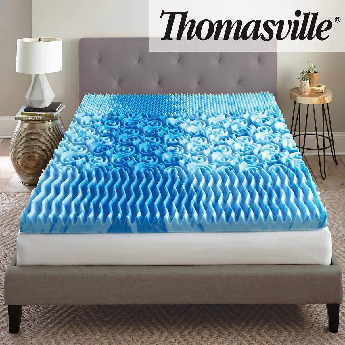 "Thomasville 3"" Cool Tri-zone Gel Memory Foam Mattress ..."