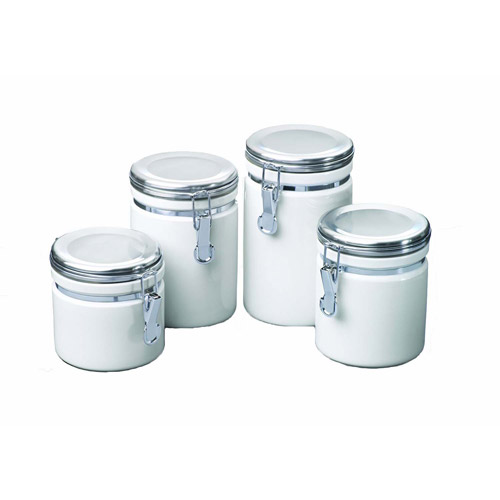 kitchen canister sets walmart anchor hocking 4 ceramic clamp top canister set 19294