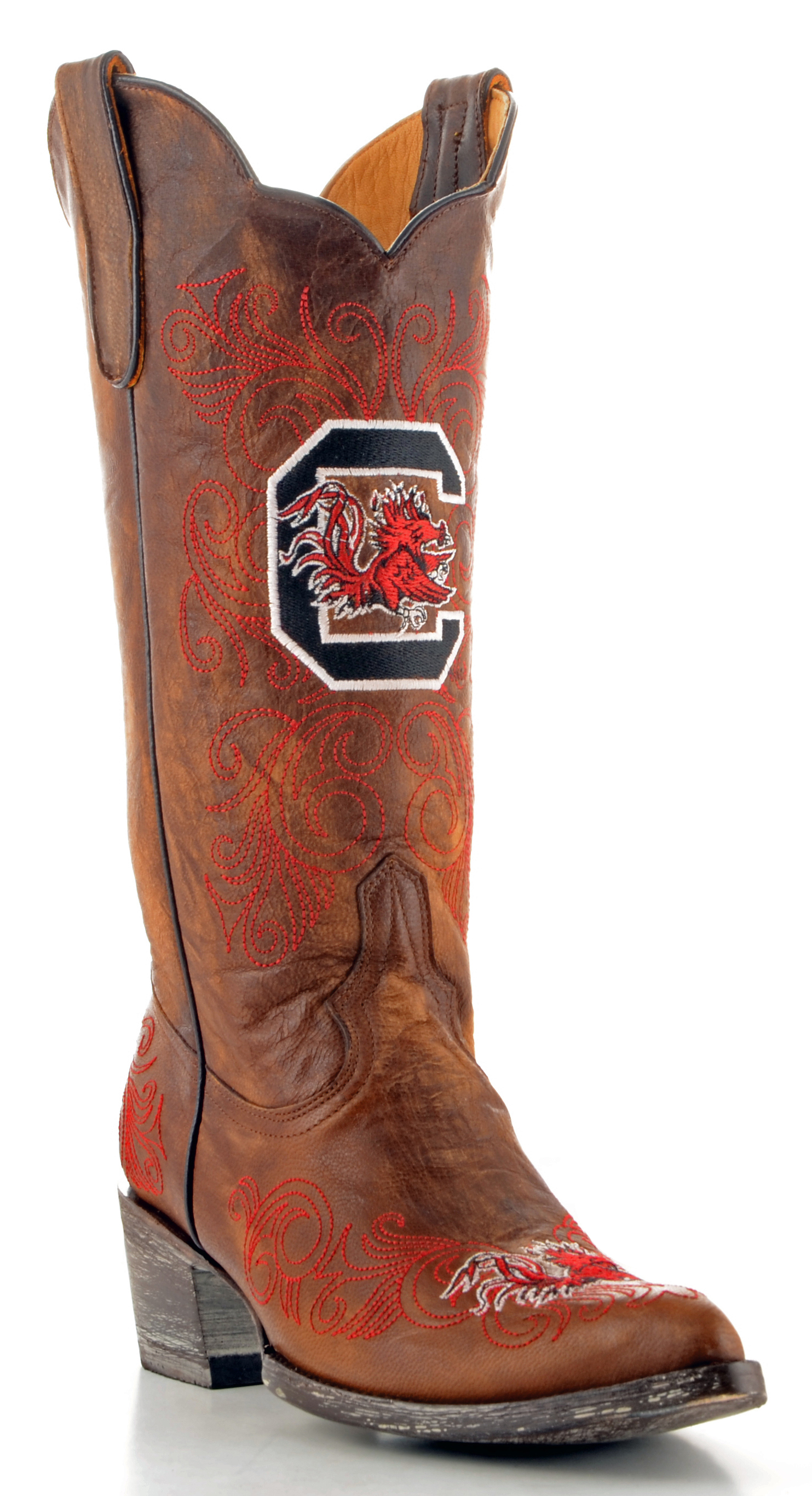 Gameday Boots Womens College Team South Carolina Brass Red USC-L086-1 by GameDay Boots