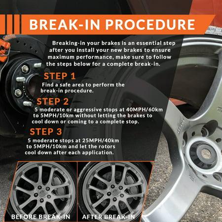 KT011541 Fits: 2005 05 2006 06 Ford Escape w//Rear Drum Brakes OE Series Rotors + Ceramic Pads Max Brakes Front Premium Brake Kit