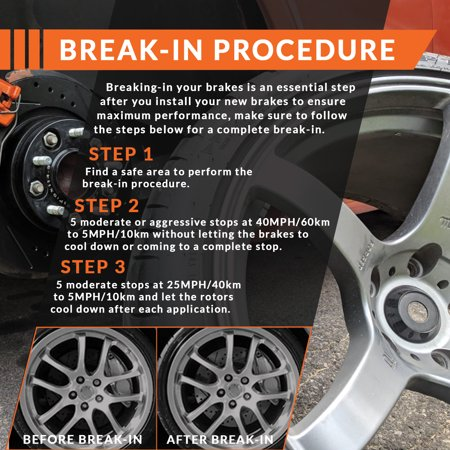 Max Brakes Rear Premium Brake Kit [ OE Series Rotors + Ceramic Pads ] KT018042 | Fits: 2005 05 Chrysler Sebring Coupe 3.0L Models - image 6 de 8