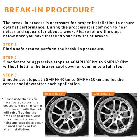 Max Brakes Rear Premium OE Rotors and Ceramic Pads Brake Kit | KT169242-1 - image 6 of 8