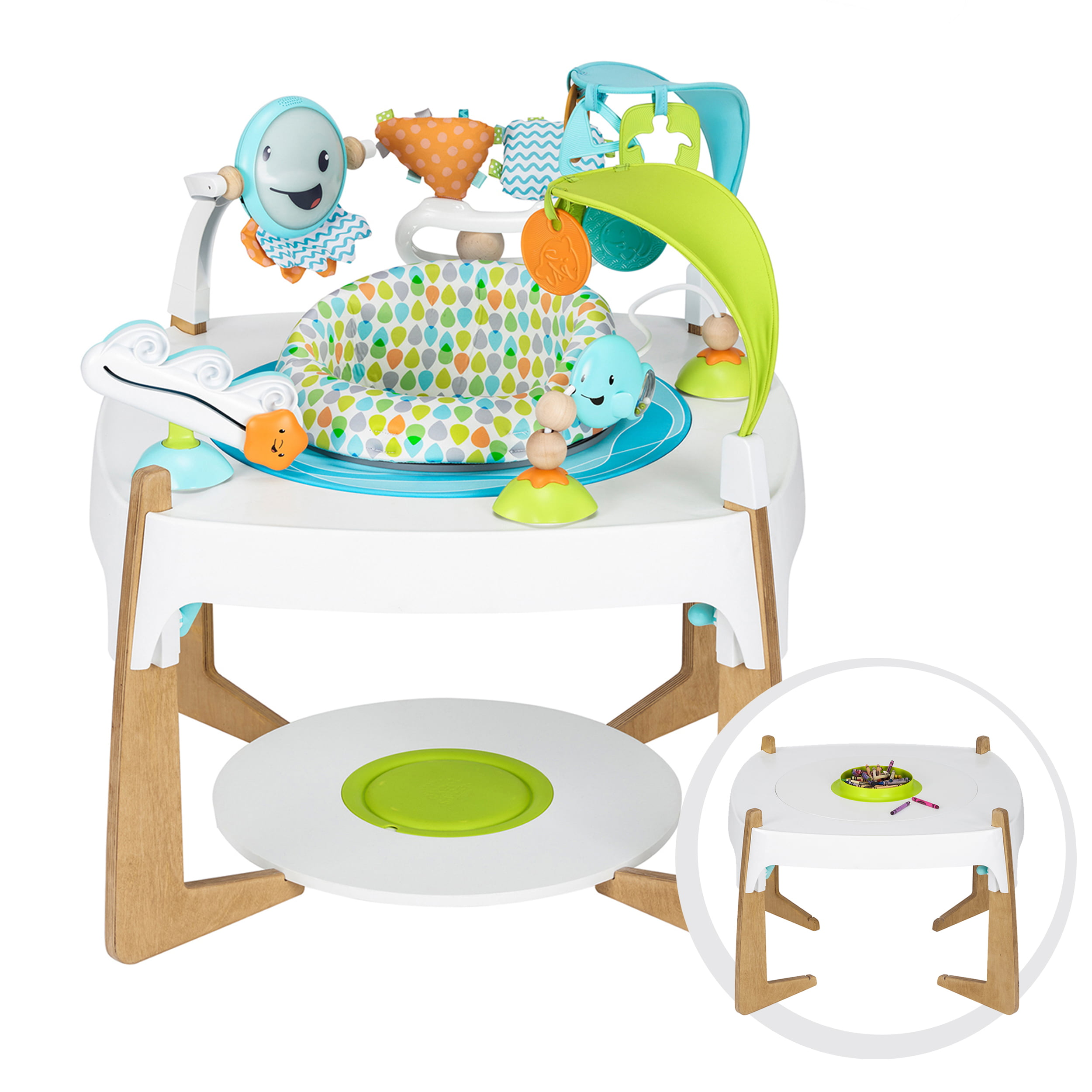 Evenflo ExerSaucer 2-in-1 Activity Center + Art Table, Gleeful Sea by Exersaucer
