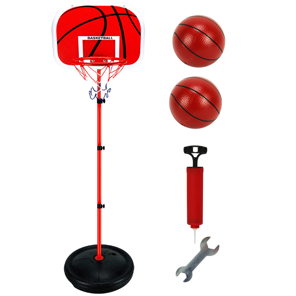 Adjustable 75cm-150cm Basketball Hoop Board System Stand Kid Indoor Outdoor Toys by