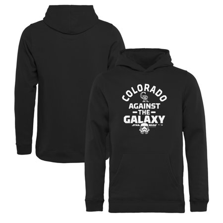 detailed look 2dadd 4a7cf Colorado Rockies Fanatics Branded Youth MLB Star Wars Against The Galaxy  Pullover Hoodie - Black