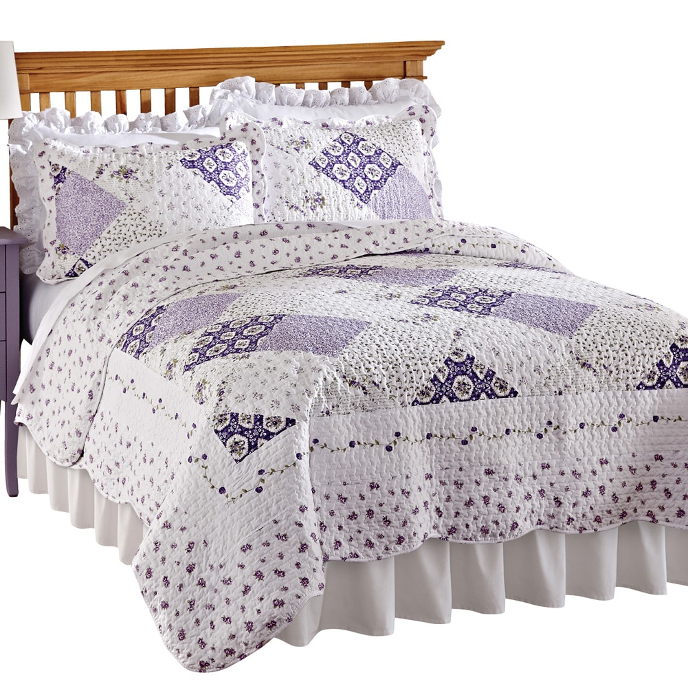 wilmington floral patchwork reversible lightweight quilt king multi