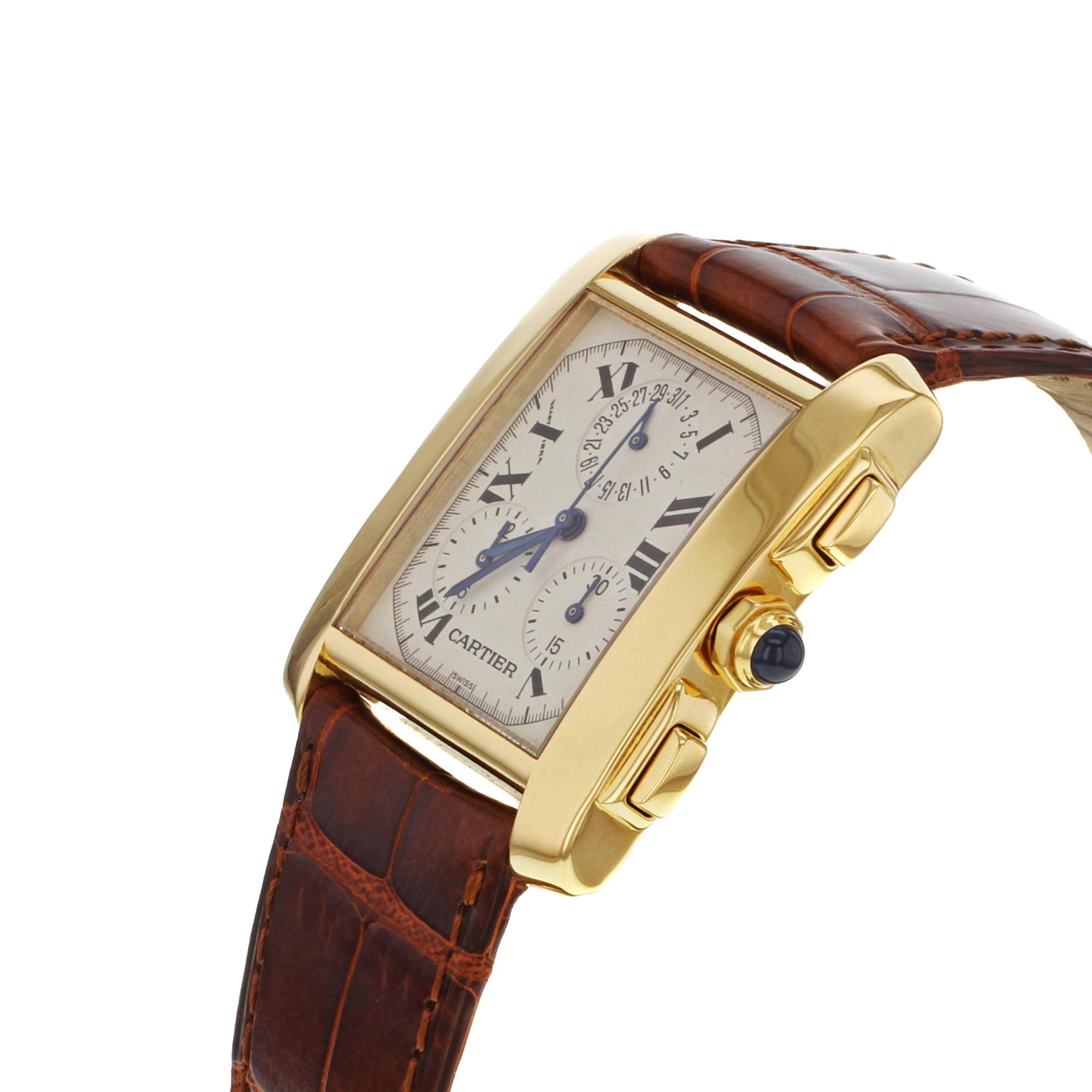 efd53bd834c Cartier - Cartier Tank Francaise Chronoflex W5000556 18K Yellow Gold Quartz  Watch (Pre-owned) - Walmart.com