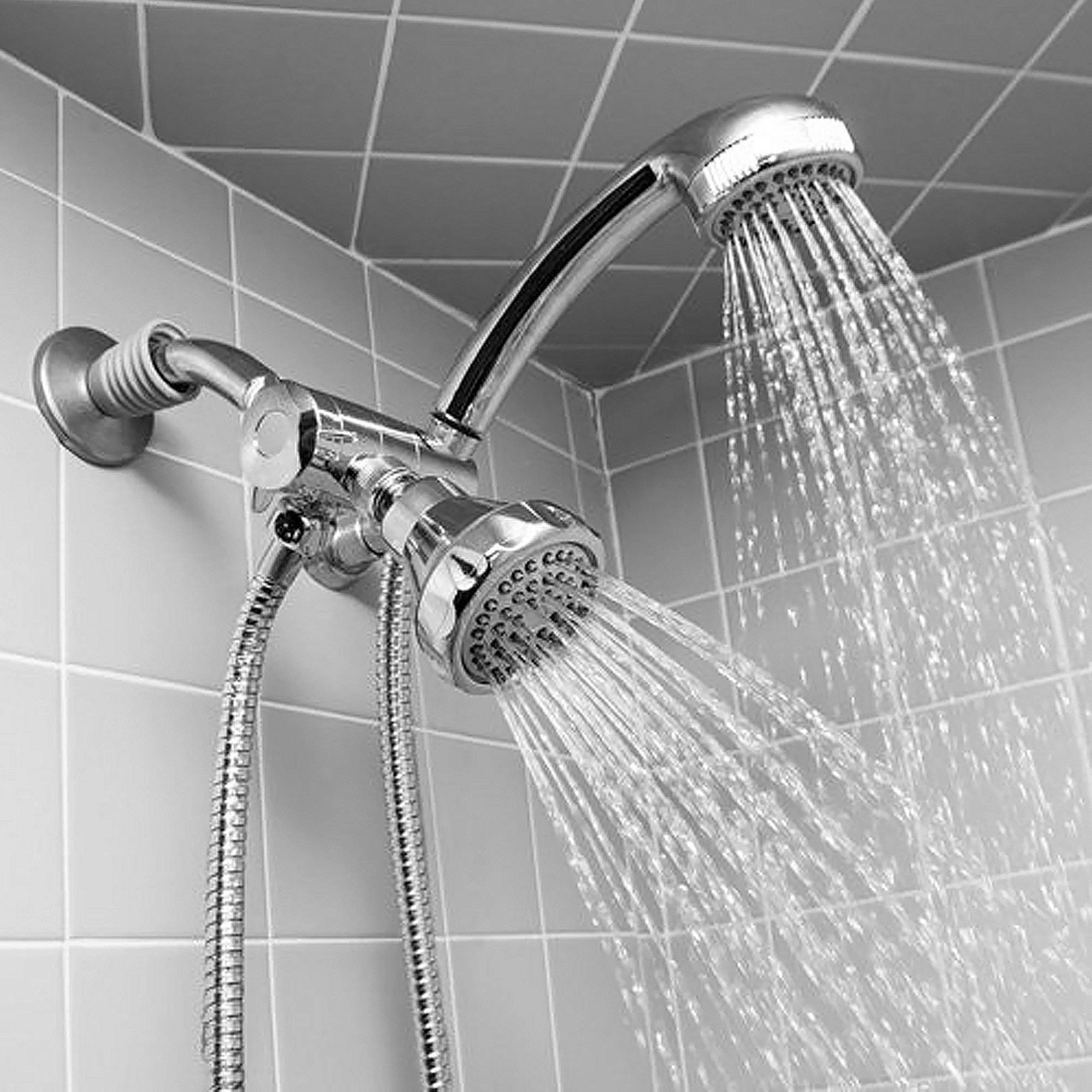 5 Setting Water Saving Multi Function Hose Mount Hand Held Shower ...
