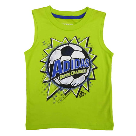 Adidas Sleeveless Tee (Adidas Toddler & Little Boys Green Super Charged Sleeveless Athletic)