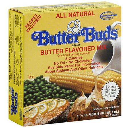 Butter Buds All Natural Butter Flavor Mix Packets, 8 5 oz