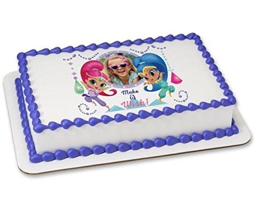 Shimmer and Shine Make a Wish 14 Sheet Edible Cake Picture Frame