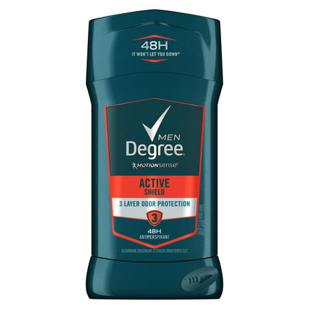 Rectangular Body Shield (Degree Men Advanced Protection Active Shield Antiperspirant Deodorant, 2.7)