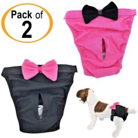 PACK - 2 Dog Diapers for Female Girl Cats SMALL and LARGE Pet 100% Cotton