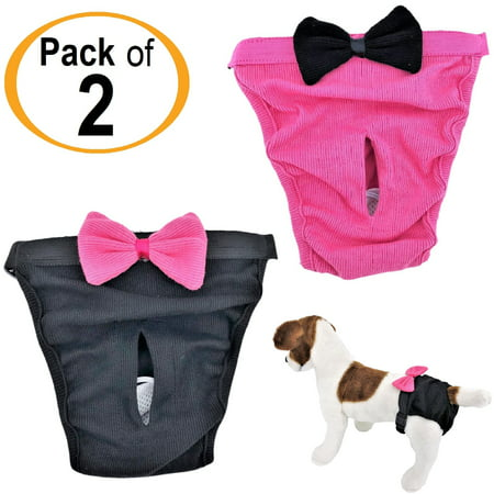 PACK - 2 Dog Diapers for Female Girl Cats SMALL and LARGE Pet 100% Cotton](Girls And Pets)