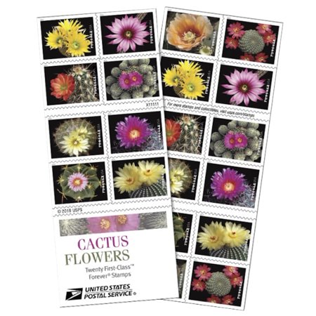 Cactus Flower Book of 20 USPS Forever First Class Postage Stamps Love Celebrate Wedding Beauty (20 Stamps)