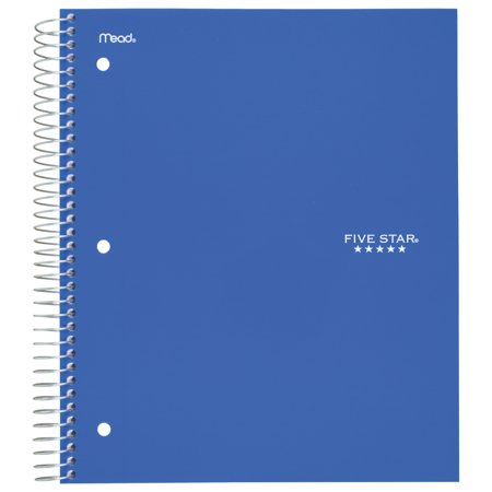 Five Star 5-Subject College Ruled Spiral Notebook (07153) (Cheap Spiral Notebooks)