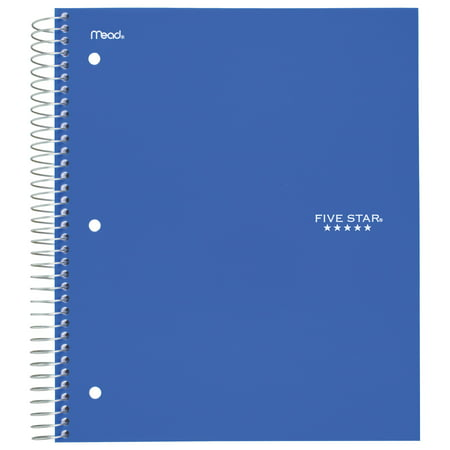 Five Star 5-Subject College Ruled Spiral Notebook -