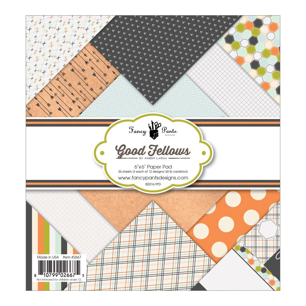 Fancy Pants Designs Single-Sided Paper Pad 6 Inch X 6 Inch 36/Pkg-