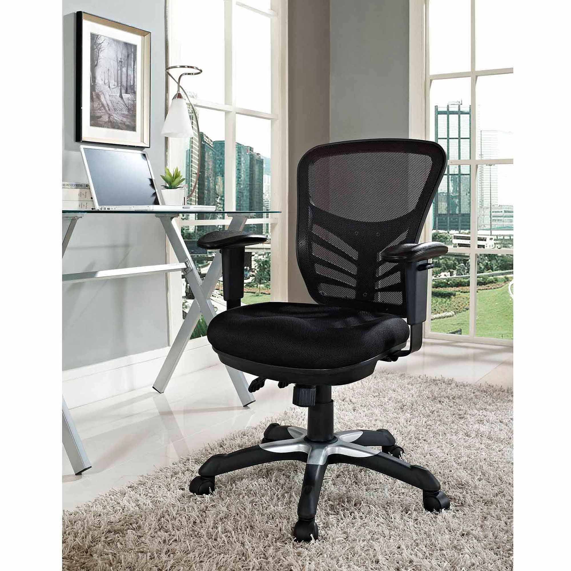 mid today garden modway product home jive office black ribbed overstock shipping vinyl chair free back executive