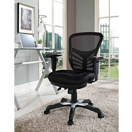 Modway Articulate Mesh Back and Seat Office Chair, Multiple Colors Color Slat Back Chair