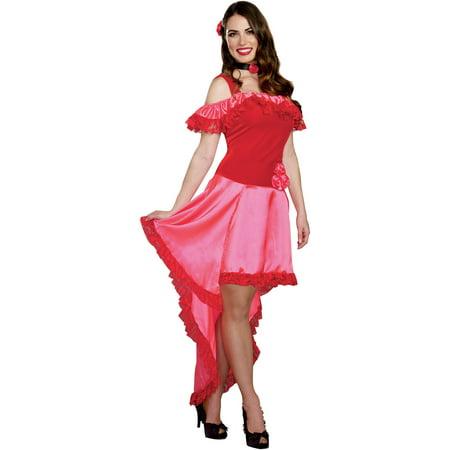 Spanish Rose Adult Women's Halloween Costume, Medium - Spaniard Costume