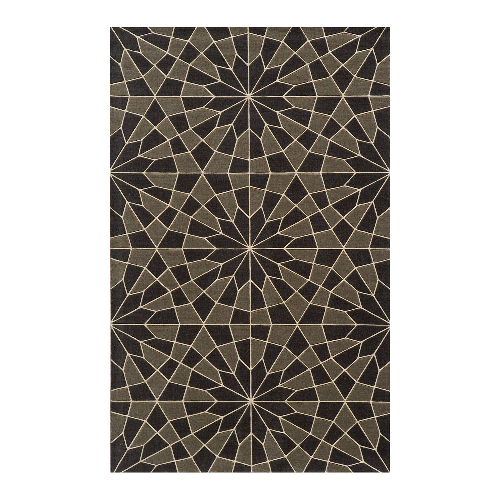 Momeni Rugs ELEMTEL-30CHR2030 Elements Collection, 100% New Zealand Wool Hand Carved Contemporary Area Rug, 2 x 3, Charcoal