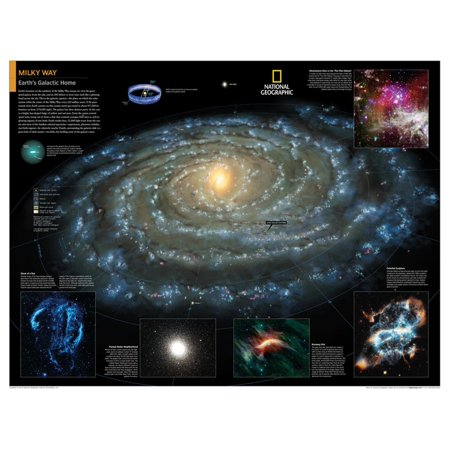 2014 Milky Way - National Geographic Atlas of the World, 10th Edition Educational Teaching Aid Poster Wall Art By National Geographic (Arth Aid)