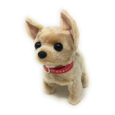 Cute Somersault Little Puppy - Barks, Sits, Walk, Tail-Wagging . Automatic Walking Forward And Backward ,PIush Animal (Best Friend Max Walking Dog)