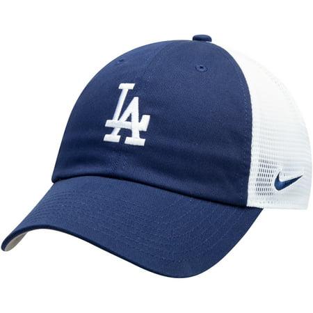 Los Angeles Dodgers Nike Heritage 86 Team Trucker Adjustable Hat - Royal/White - OSFA (Nike Hats For Boys)