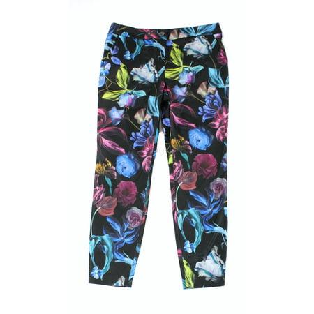 0fe1543b3ba5 Ted Baker NEW Black Women s Size TB 3 US 8 Floral Print Dress Pants ...