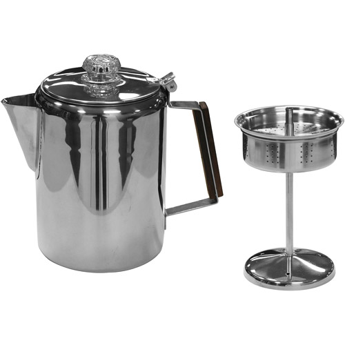 Stansport 14 Cup Percolater Coffee Pot Stainless Steel
