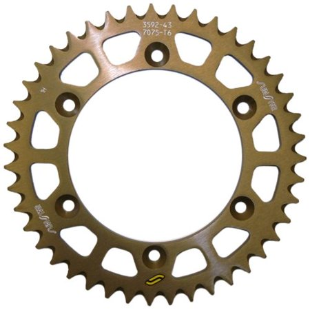 2-359245 Standard Steel Rear Sprocket, Uses high carbon, 1045 steel material By Sunstar