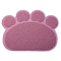 Pet Feeding Mat Dog Cat Placemat Litter Mat Non-Slip Flexible Cleanable Soft PVC Ring Shaped Fiber Multi-Style Choice
