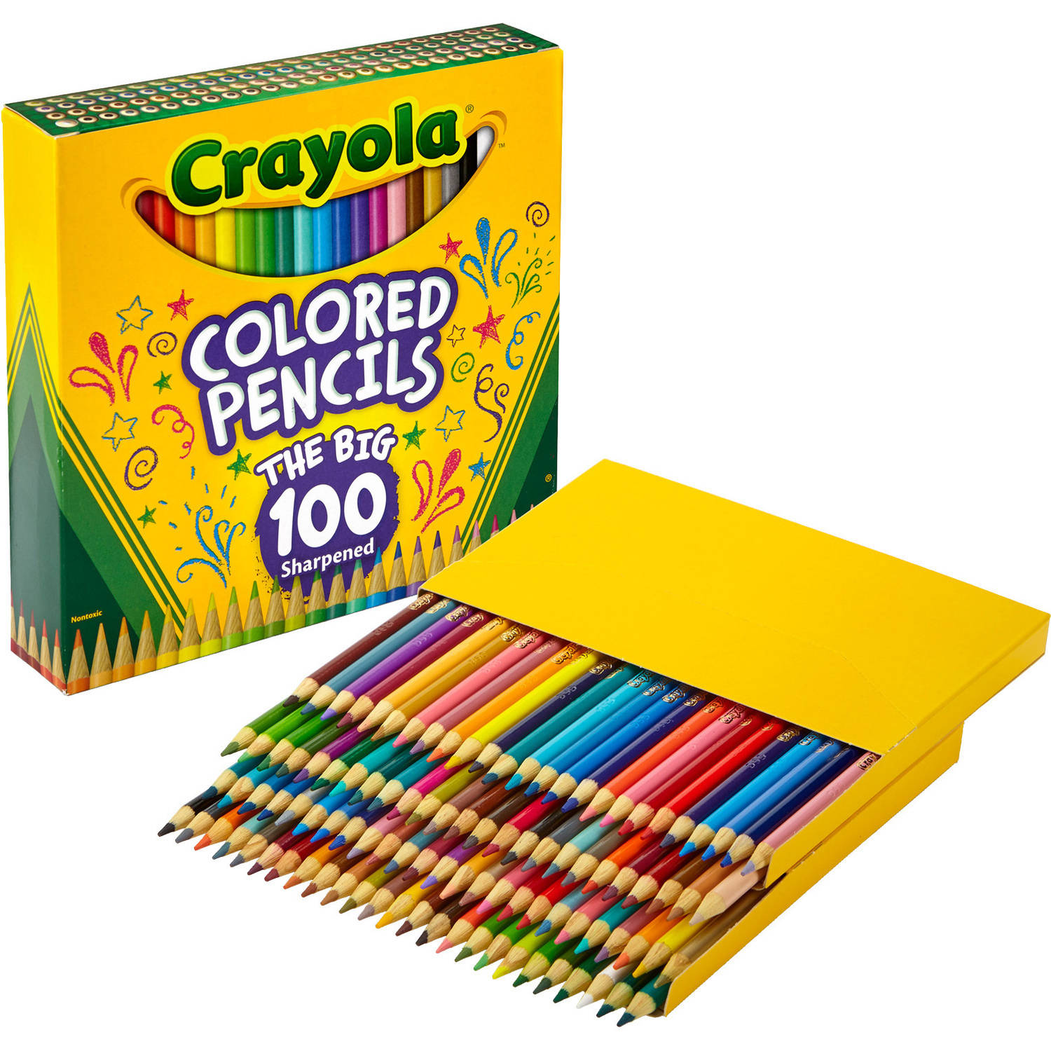 Crayola Adult Coloring Gift Set Includes 100 Count Colored Pencils and the Elegant Escapes Adult Coloring Book