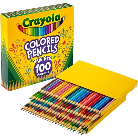 Crayola Adult Coloring Gift Set Includes 100 Count Colored Pencils and the Elegant Escapes Adult Coloring