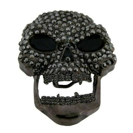 Ideas 3 Sisters Halloween Costumes (Skull Belt Buckle Gun Metal Finished Rhinestones Hip Hop Rockers Unisex Halloween Costume Party Gift)