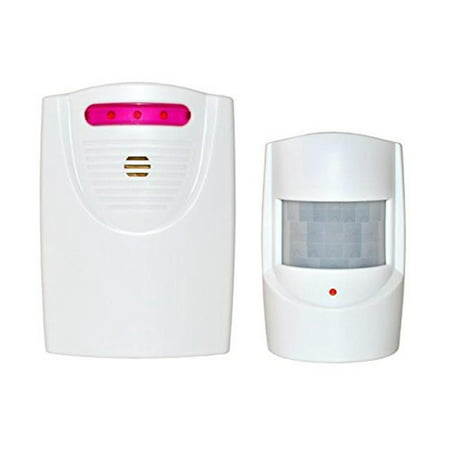 ALEKO QH-9822A White Safety Driveway Patrol Infrared And Wireless Home Security Alert Alarm System