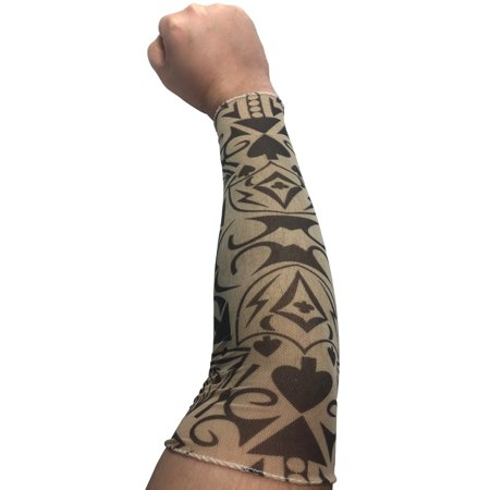 Mens Womens Poker Thug Costume Accessory Arm Sleeve Tattoo Large - Thug Costumes