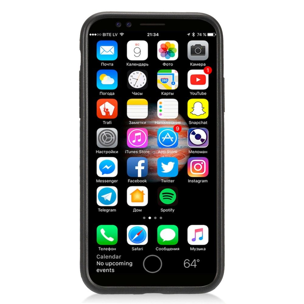 Apple iPhone X Case, by Insten Stand Brushed Hard Plastic/Soft TPU Rubber Case Cover For Apple iPhone X, Black - image 1 of 3