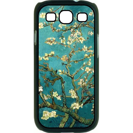 Artist Vincent Van Gogh's Almond Blossoms Painting-Print Design Hard Black Plastic Case Compatible with the Samsung Galaxy s3 i9300 Phone