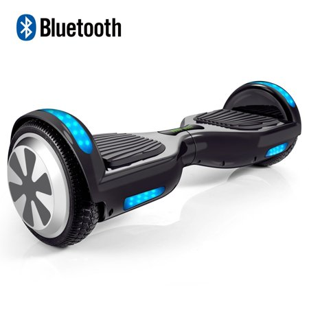 Hoverboard Two Wheel Self Balancing Scooter With Bluetooth Speaker And Led Lights   Ul2272 Certified Hover Board With 6 5 Aluminum Alloy Wheels  250W Dual Motor  Black