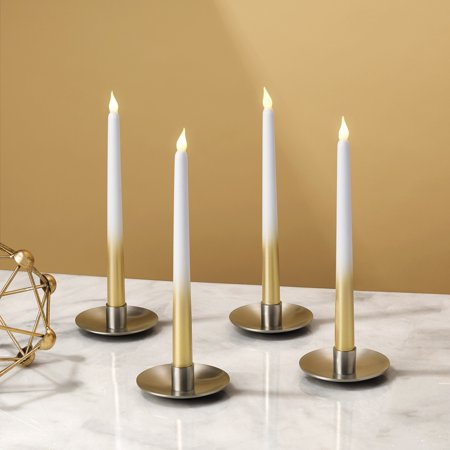 Flameless LED Taper Candles | Set of 4 | 10