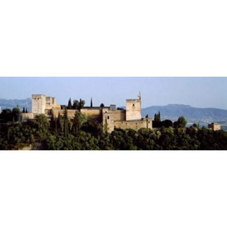 Palace viewed from Albayzin Alhambra Granada Granada Province Andalusia Spain Canvas Art - Panoramic Images (18 x 6)](Alhambra Palace Halloween)
