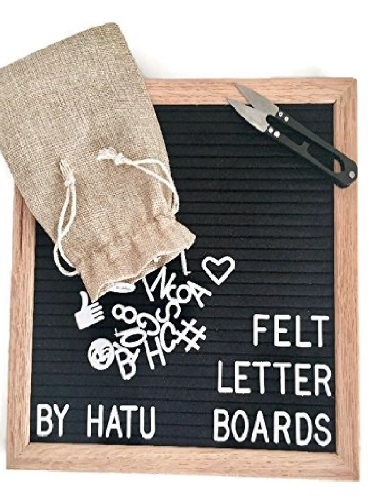 10x10 Felt Letter Board Changeable Letter Board Includes 338 Letters, Numbers, Symbols and Emojis. Includes... by