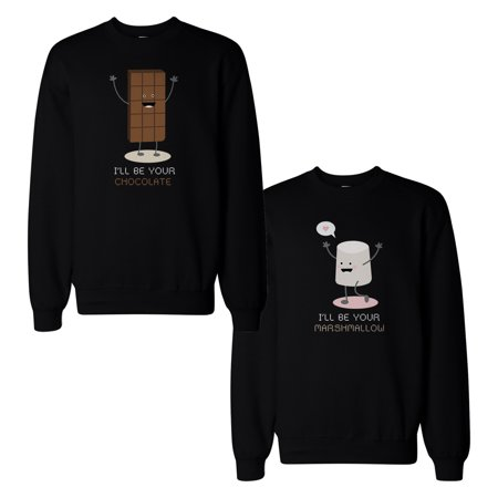 1383244317 Chocolate And Marshmallow Couple Sweatshirts Matching Sweat Shirts -  Walmart.com