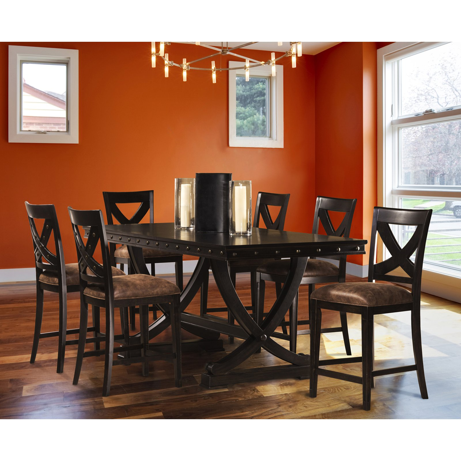 Hillsdale Santa Fe 7 Piece Counter Height Dining Set