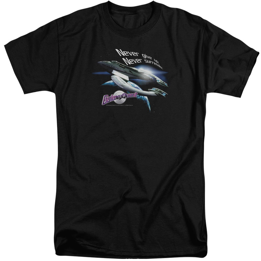 Galaxy Quest Never Surrender Mens Big and Tall Shirt