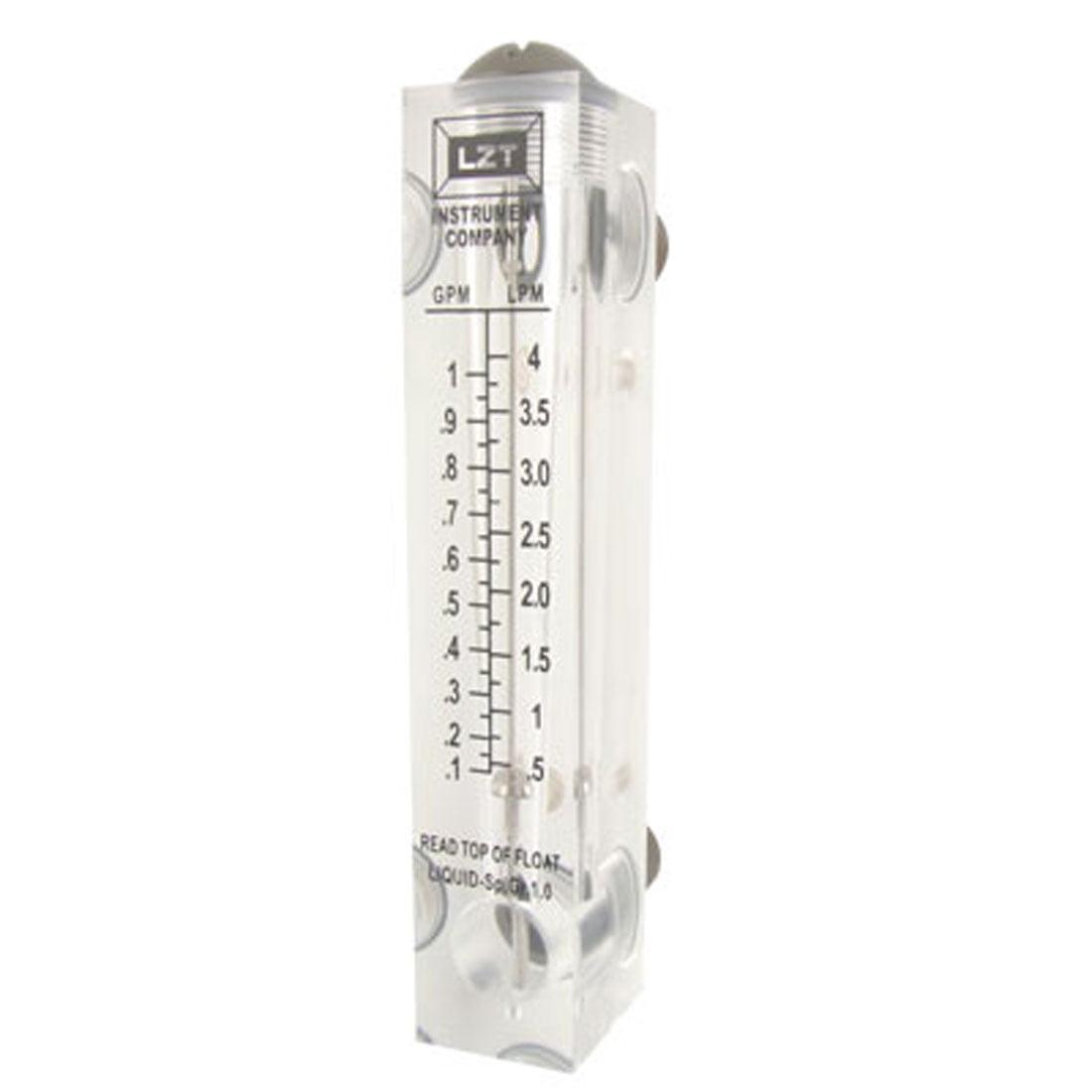 Unique Bargains Water Oil Flow Measuring Panel Flowmeter Instrument by