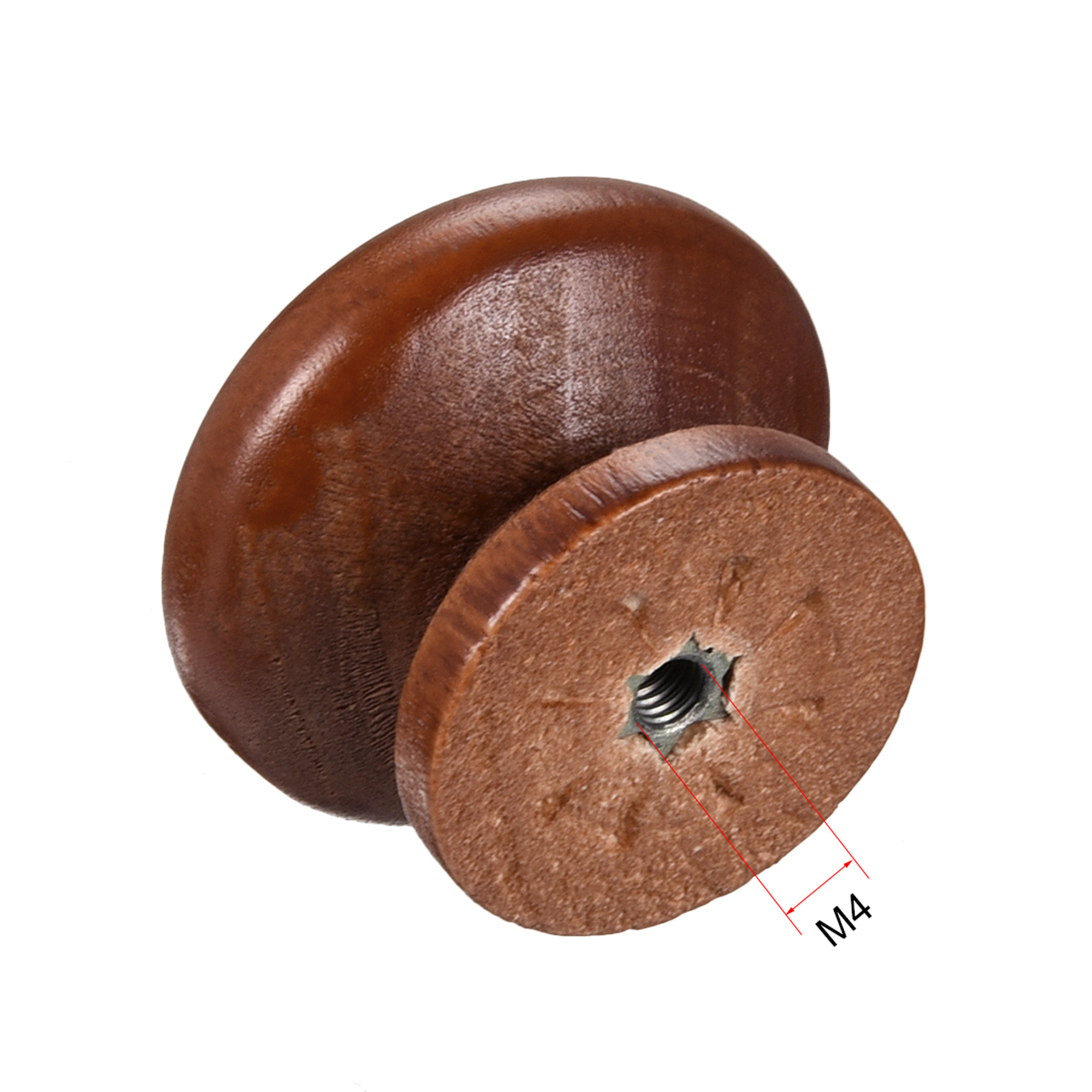 Round Pull Knob Handle 35mm Dia Cabinet Furniture Bedroom Kitchen Drawer 10pcs - image 1 de 4